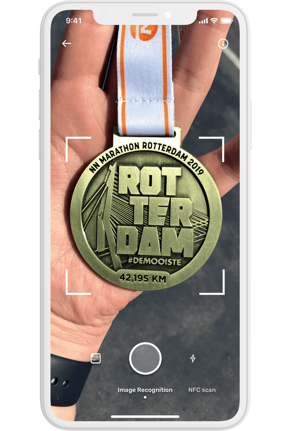 Smart Medal App on phone